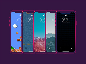 Iphone X Wallpaper Lazer Pack Free Psd Template Psd Repo