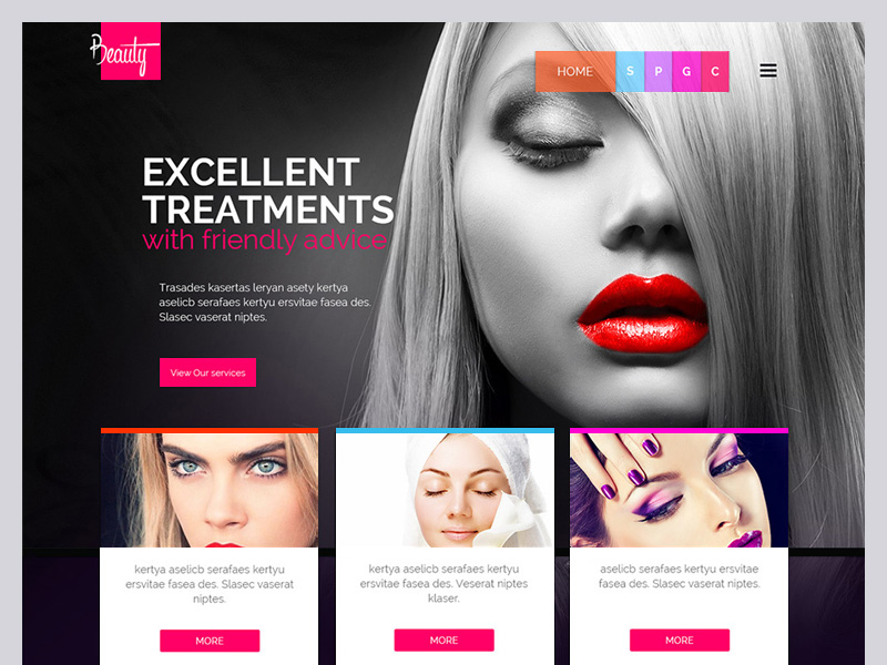 Beauty Salon Template Free Psd Template Psd Repo
