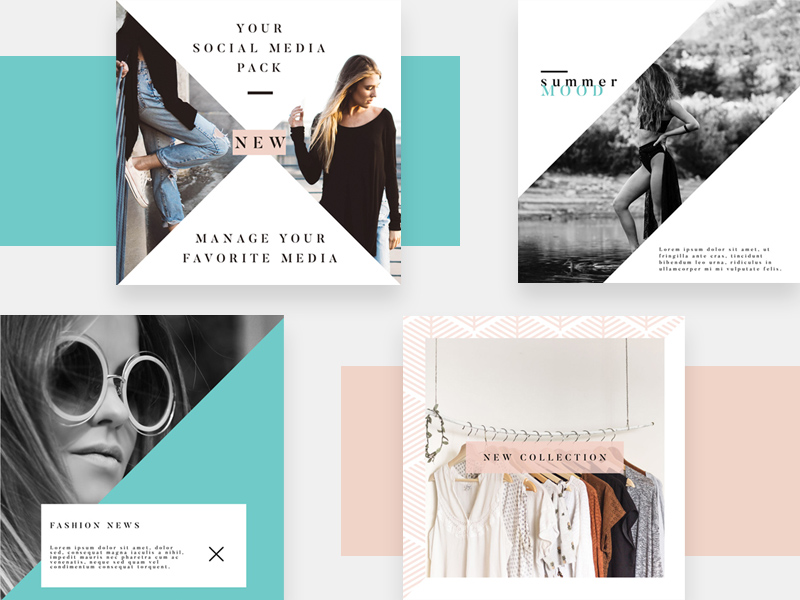 4 Instagram Fashion Templates Free Psd Template Psd Repo