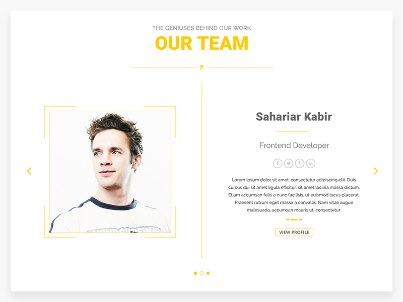 Our Team Page Template | Free PSD Template | PSD Repo