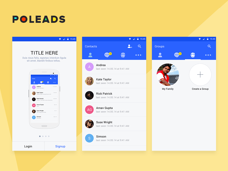chat app android template