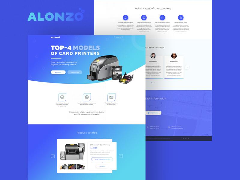 Alonzo Landing Page Template