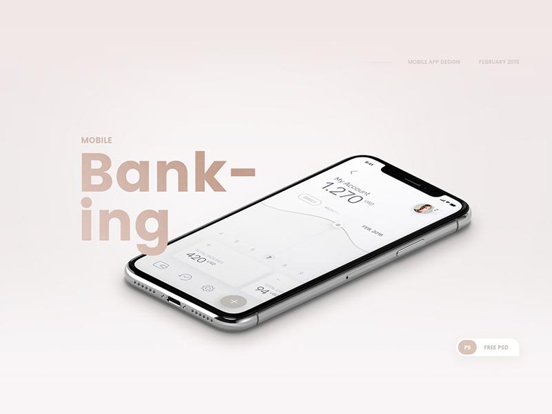 Banking App UI Design | Free PSD Template | PSD Repo
