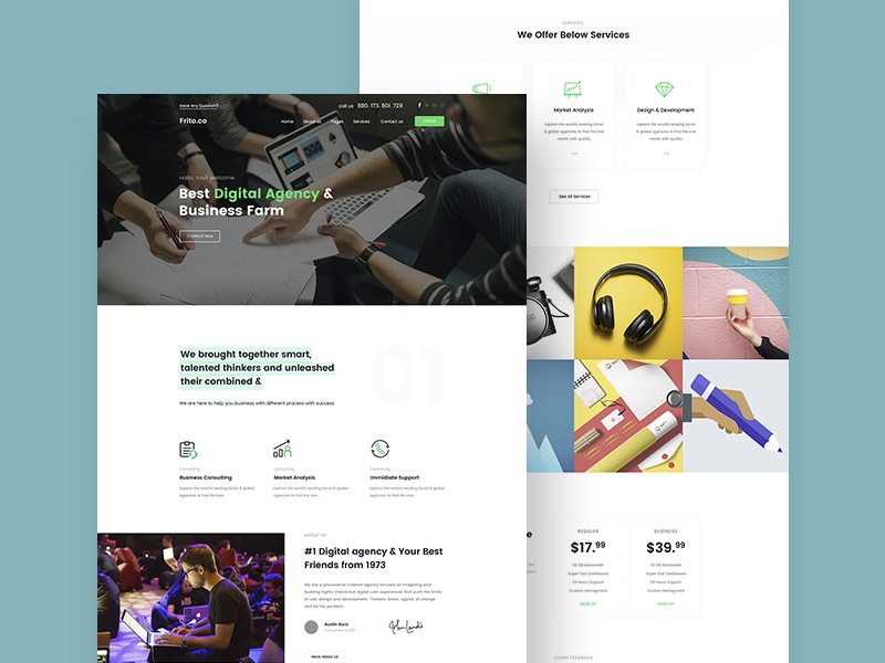 Small Business Website Template Free Psd Template Psd Repo