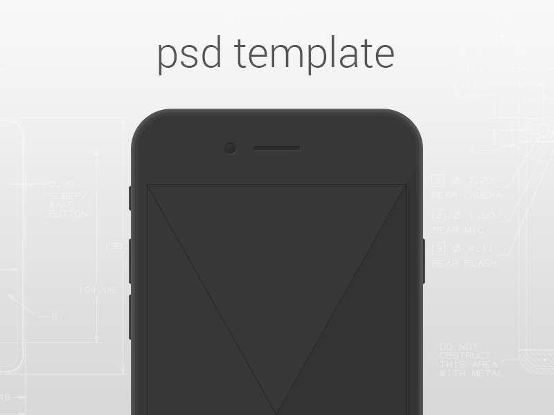 Simple Iphone 6 Template Free Psd Template Psd Repo