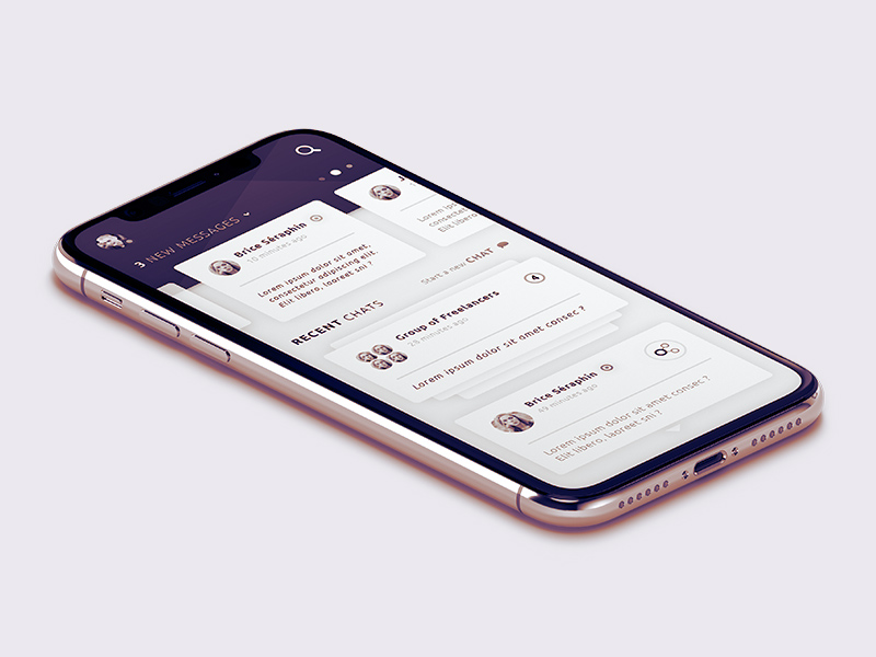 Chat App Screen Design | Free PSD Template | PSD Repo