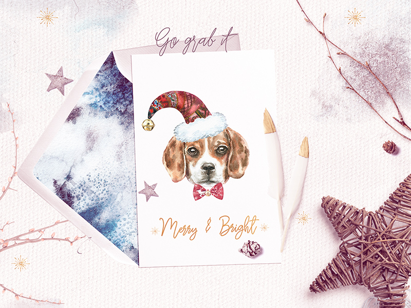 Dog Christmas Card Photo.Dog Christmas Card Free Psd Template Psd Repo