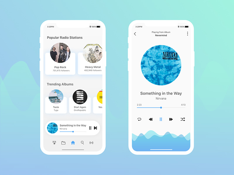 Music App Concept Made With Adobe XD   Free Xd Templates