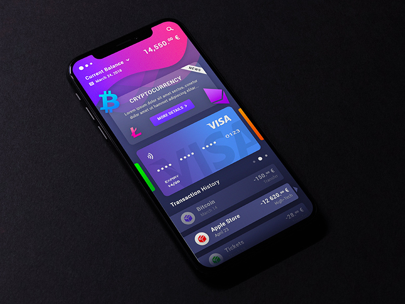 Cryptocurrency Mobile App Design Free Psd Template Psd Repo