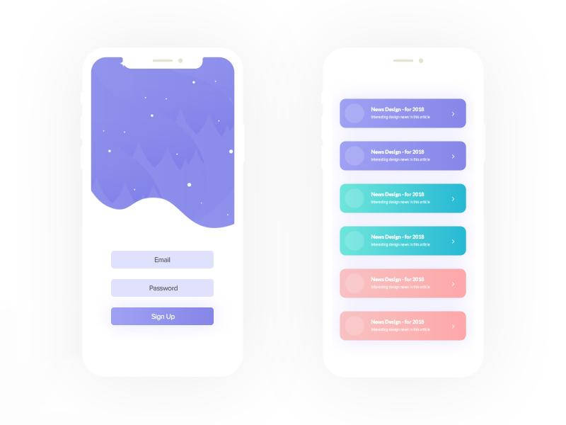 Mobile Article UI Design | Free PSD Template | PSD Repo