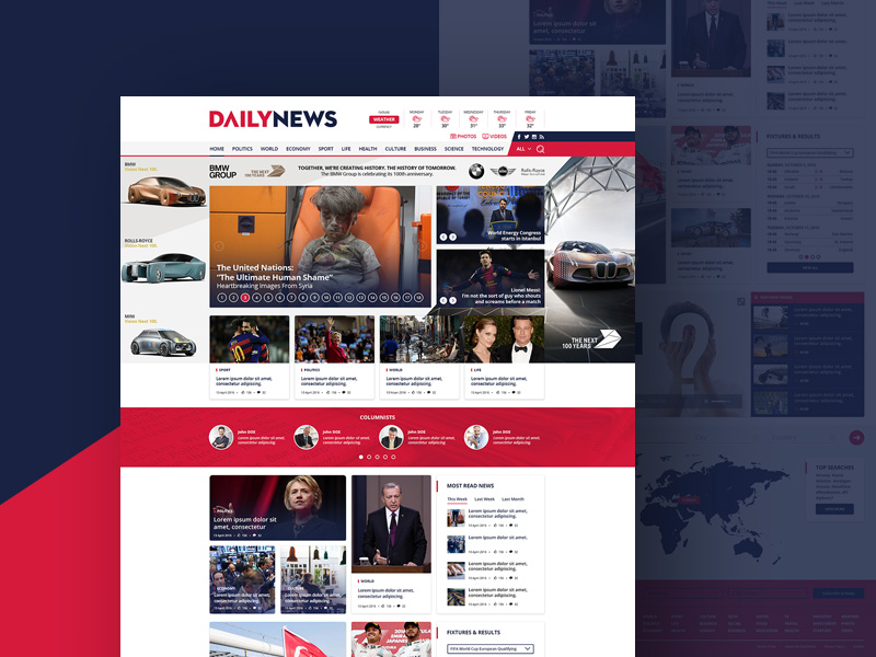 Daily News Site Template