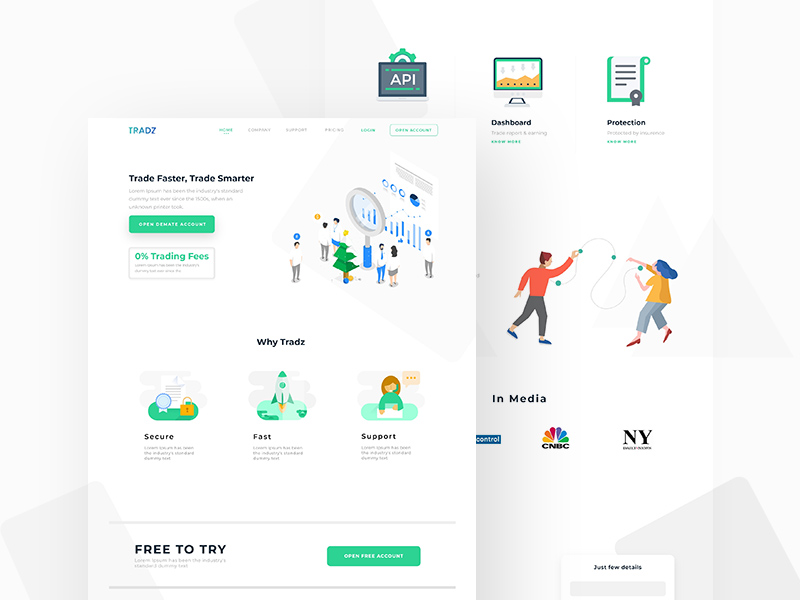 Digital Currency Trading Platform Website Template
