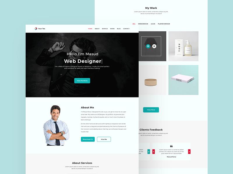 Personal Portfolio Website Design | Free PSD Template | PSD Repo