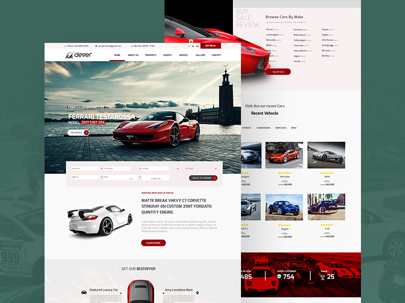 Driving Car Showroom Website Template