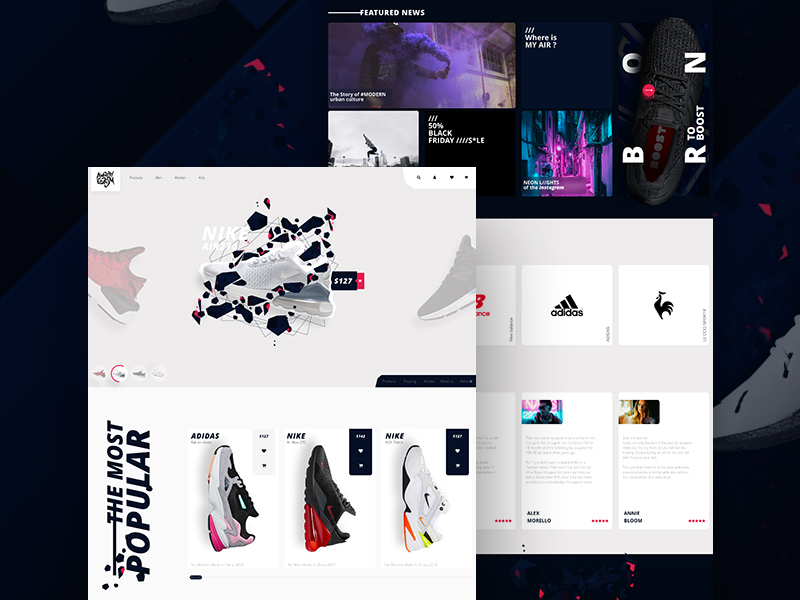 E-Commerce UI Kit For Adobe Xd | Free Xd Templates