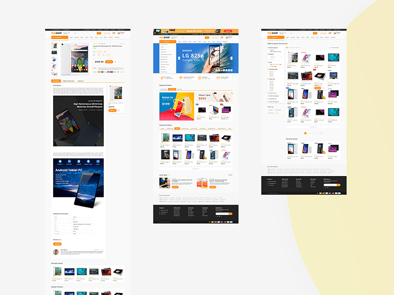E-commerce Adobe XD Theme Template | Free Xd Templates