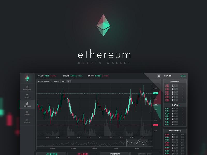 Ethereum App Dashboard UI | Free PSD Template | PSD Repo