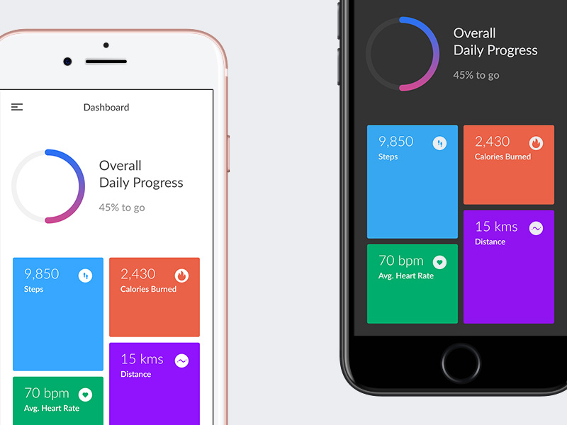 Fitness Dashboard App | Free PSD Template | PSD Repo