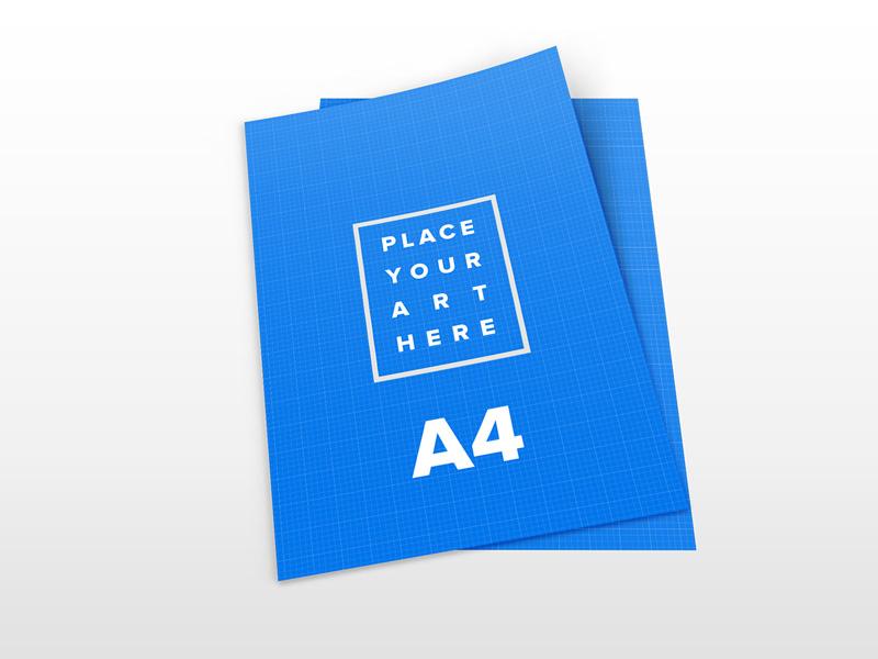 A4 Leaflet Mockup Free Psd Template Psd Repo