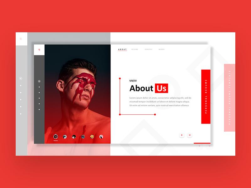 Adobe Xd Resume Template Free Xd Templates