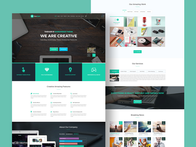 Creative Landing Page Template Free Psd Template Psd Repo