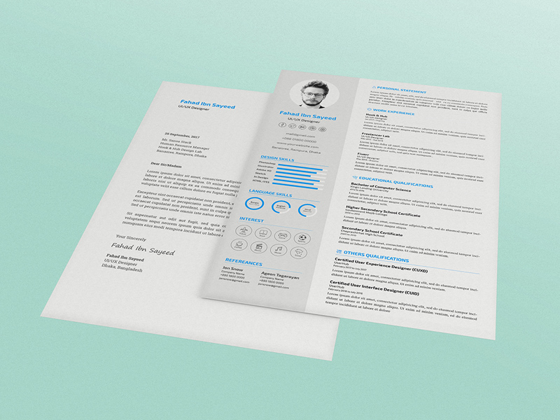 Free CV/Resume PSD Template With Cover Letter | Free PSD ... on flyer templates, print brochure templates, crime scene markers templates, black shopping bag templates, photography website templates, fancy title templates, page layout templates, simple memory mates templates, household notebook templates, 1 page brochure templates, label templates, pdf templates, create your own ticket templates, logo templates, photography portfolio templates, text templates, website header templates, internet auto sales templates, photography branding templates, newsletter templates,