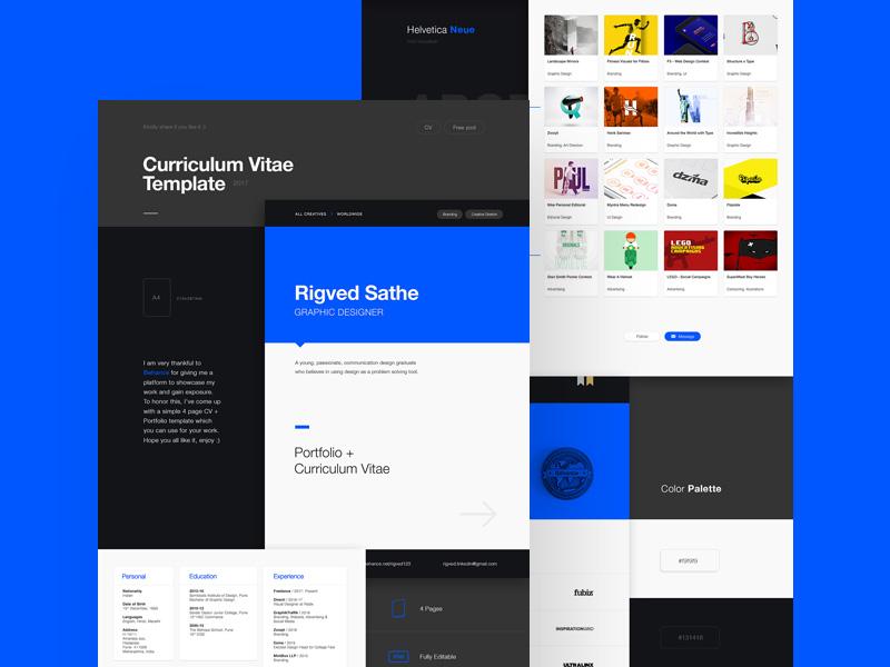 2017 Cv Template By Behance