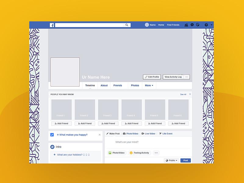 Facebook 2018 Profile Cover Mockup | Free PSD Template | PSD
