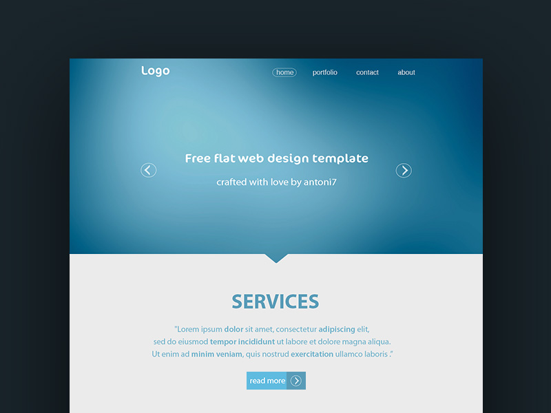 Simple Website Template | Free PSD Template | PSD Repo