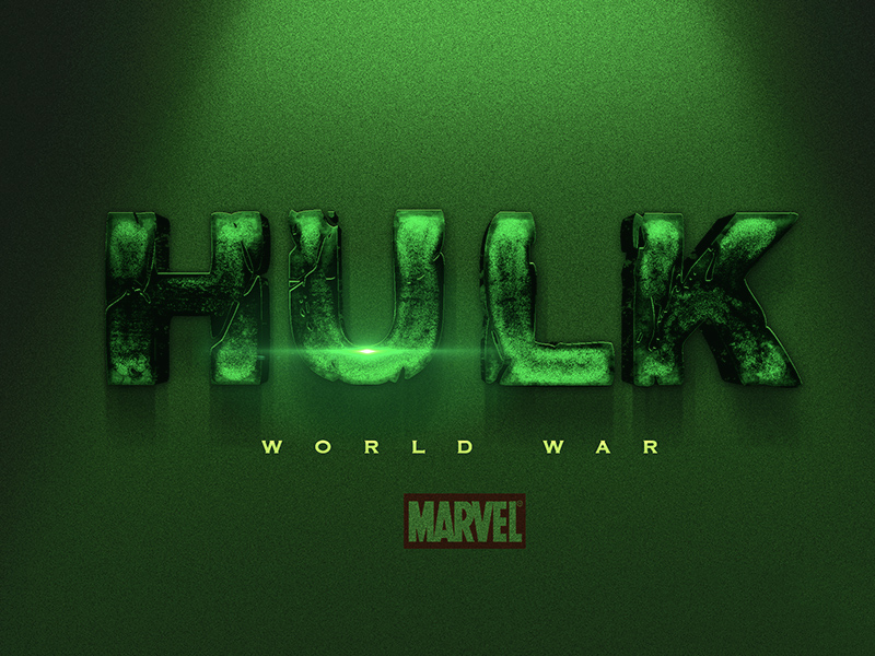 Incredible Hulk Text Style & Effect For Photoshop | Free PSD