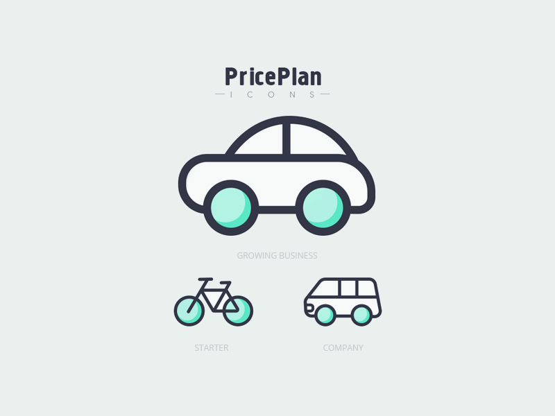 Pricing & Plans Icons | Free PSD Template | PSD Repo