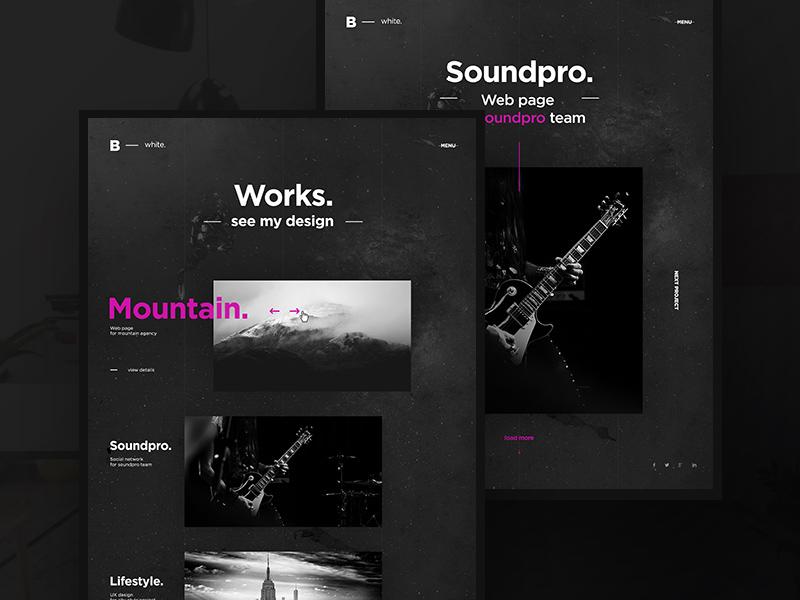 Black & White Creative Portfolio Template | Free PSD