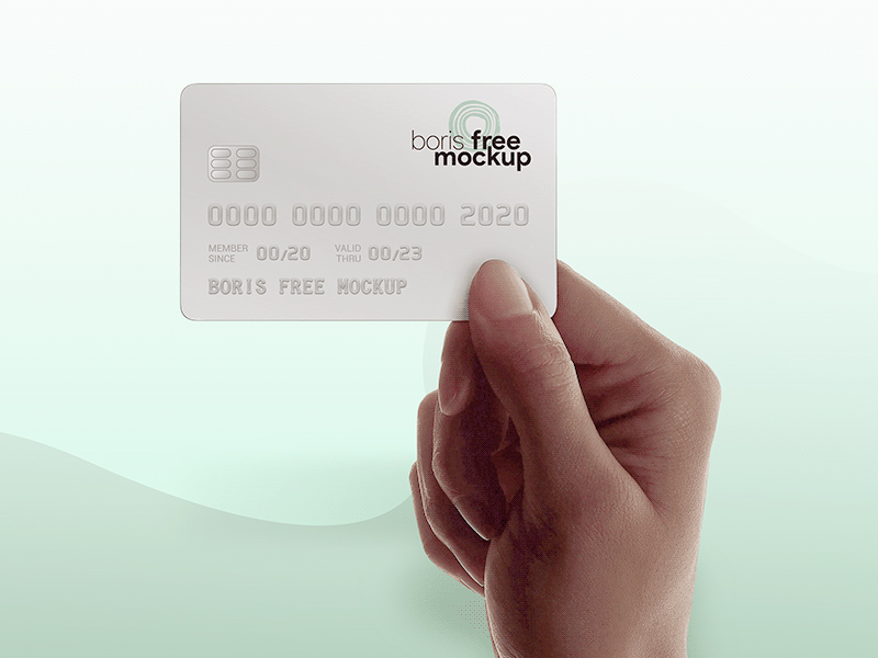 Hand Holding Credit Card Mockup Free Psd Template Psd Repo