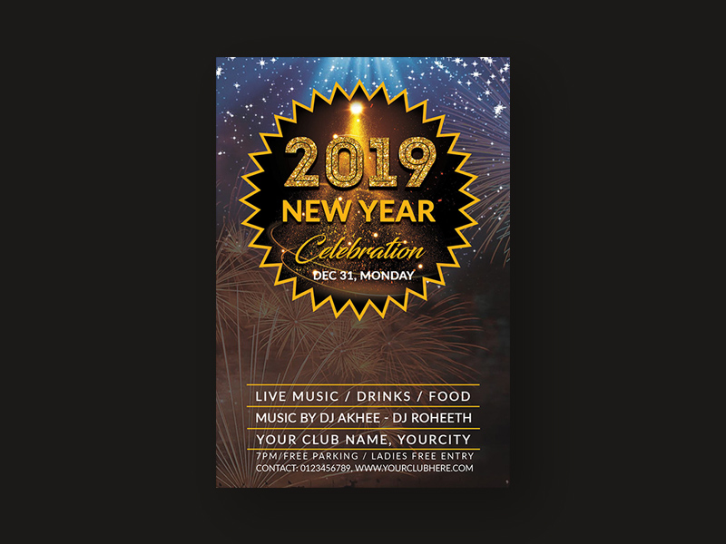 New Years Eve Party Flyer Template Free from cdn.psdrepo.com