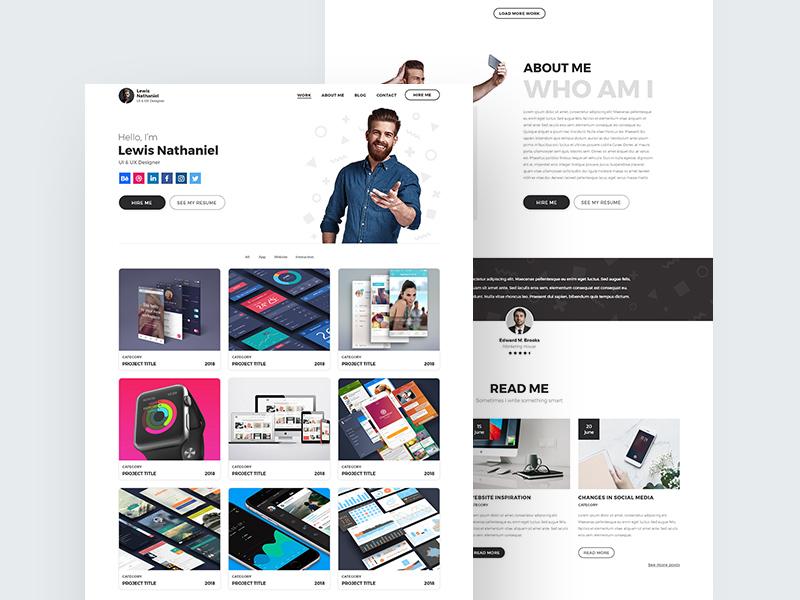 Designer Portfolio Template | Free PSD Template | PSD Repo