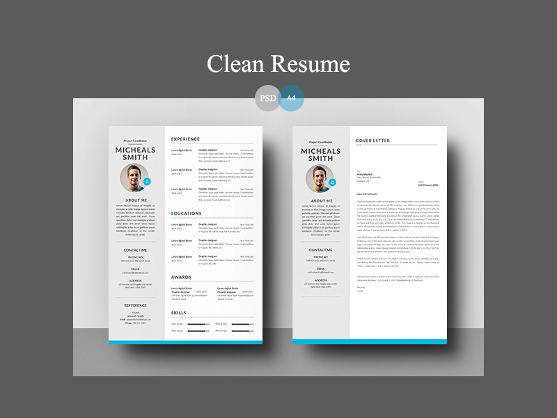 Resume Template For Word Photoshop