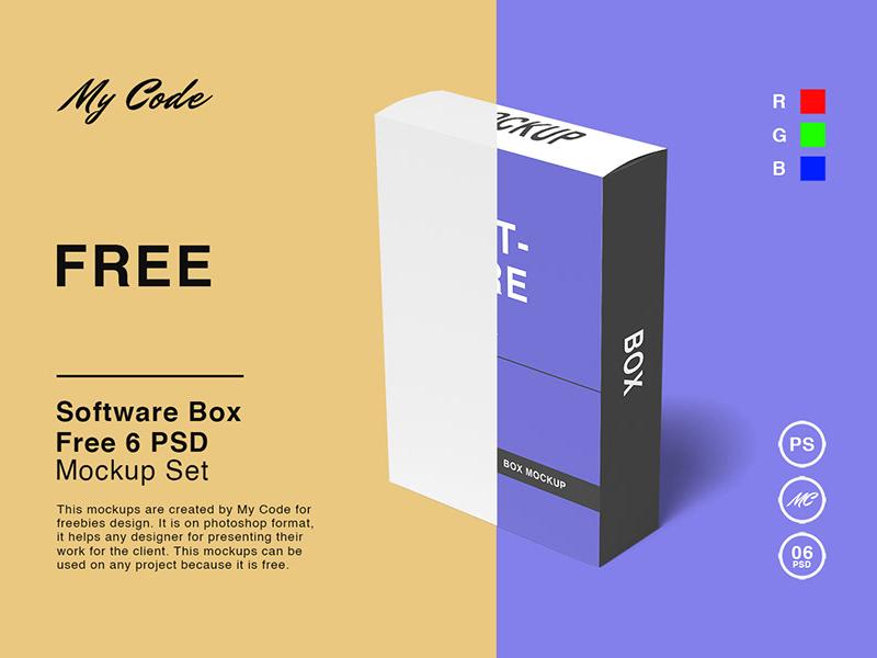 Software Box Mockups Free Psd Template Psd Repo