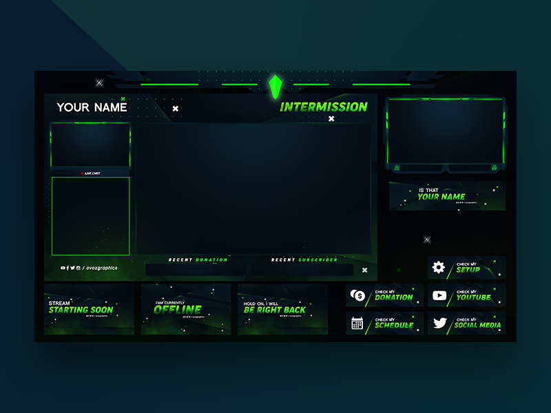 Twitch Stream Overlay Template | Free PSD Template | PSD Repo