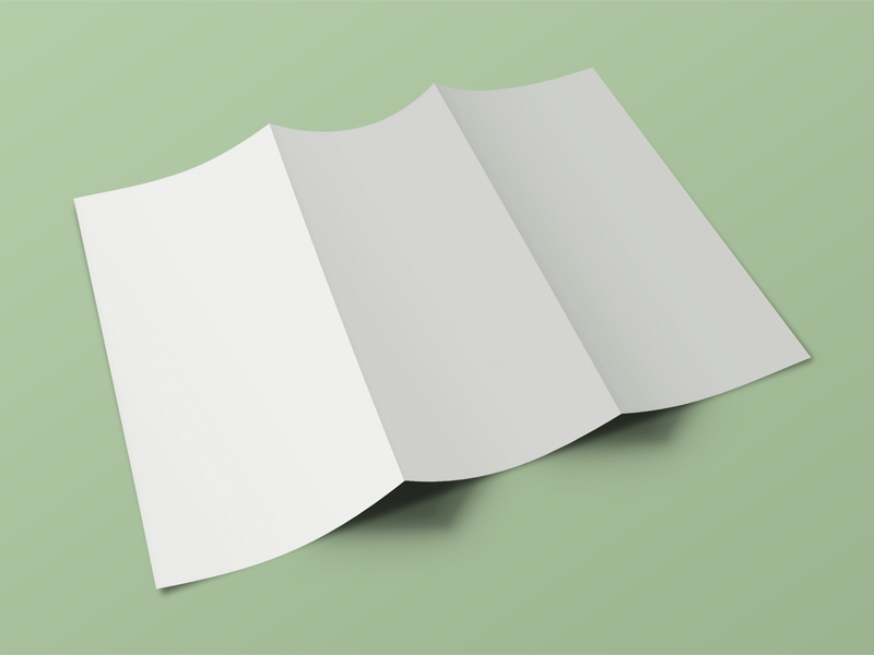 Front Back Tri Fold Brochure Mockup Free Psd Template Psd Repo