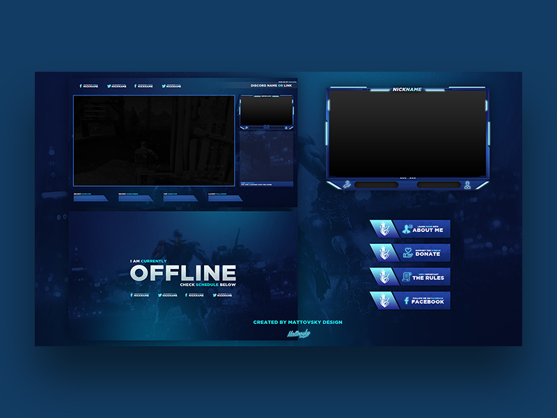 Free Twitch Overlay Template | God Of War Twitch Stream Overlay Template 2018 Free Psd Template