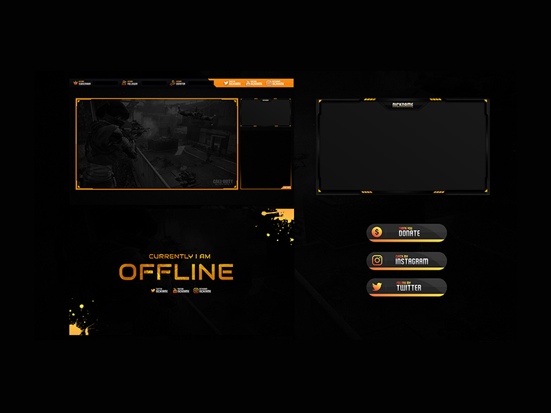 Free Twitch Stream Overlay Template For Black Ops