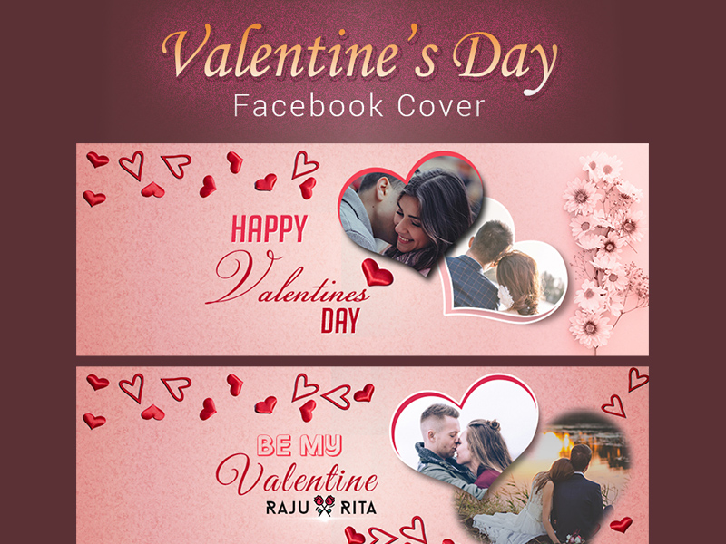 Valentines Day Facebook Cover Template Free Psd Template