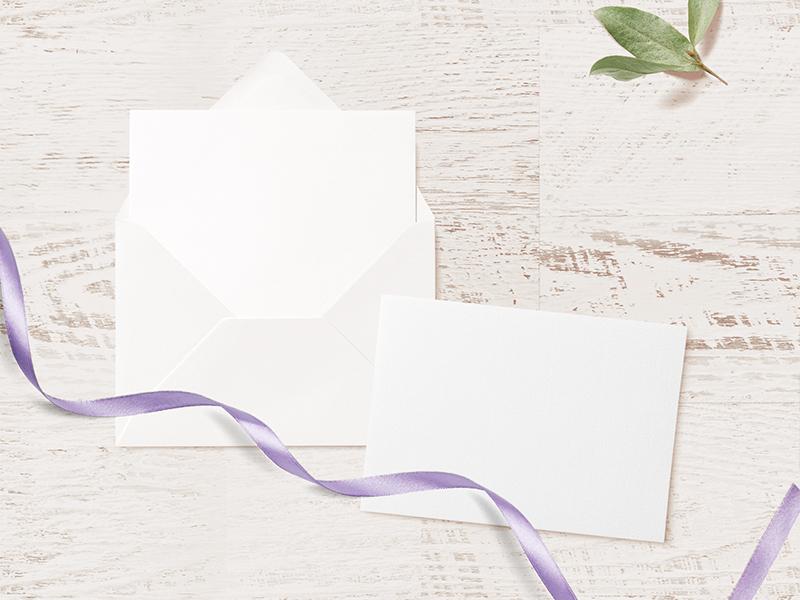 Wedding Invitation Card Envelope Mockup Free Psd