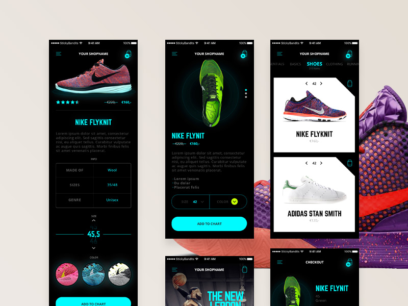 Glow Mobile Ecommerce UI Kit | Free PSD Template | PSD Repo