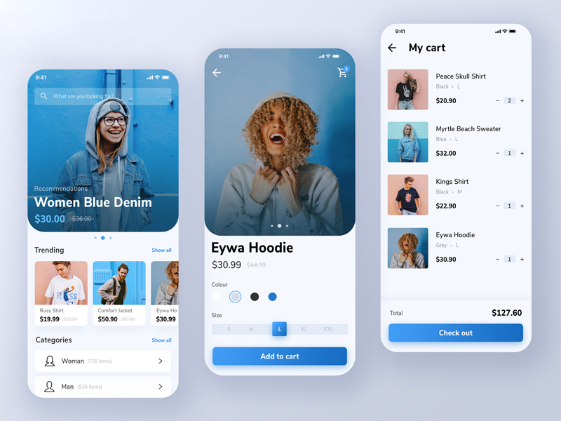 Online Shopping Mobile App Design | Free PSD Template | PSD Repo