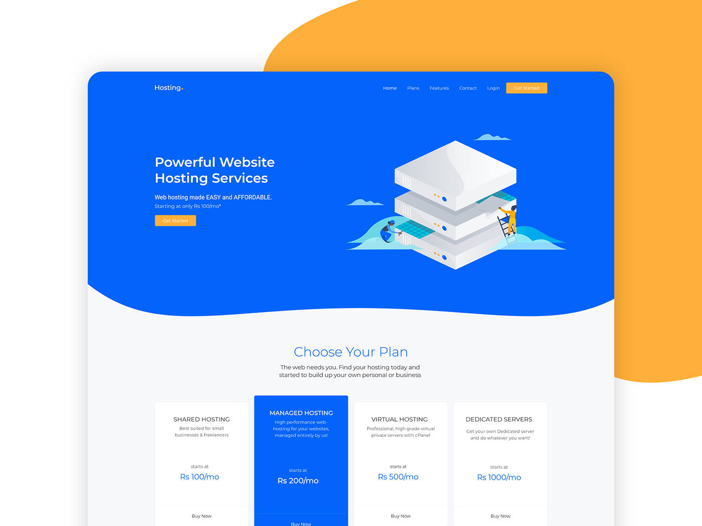 Landing page хостинг бесплатно где лучше купить хостинг и домен