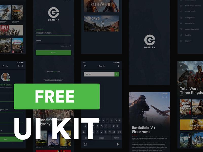 Adobe Xd Game UI Kit | Gamify | Free Xd Templates