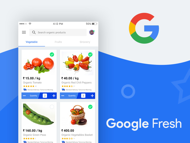 Google Fresh App UI Design   Free PSD Template   PSD Repo