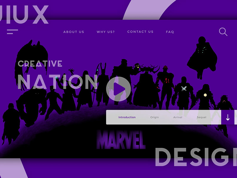 Website Header Ui Ux Design Template Free Xd Templates