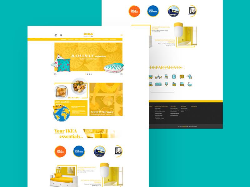 IKEA Website UI Concept | Free PSD Template | PSD Repo